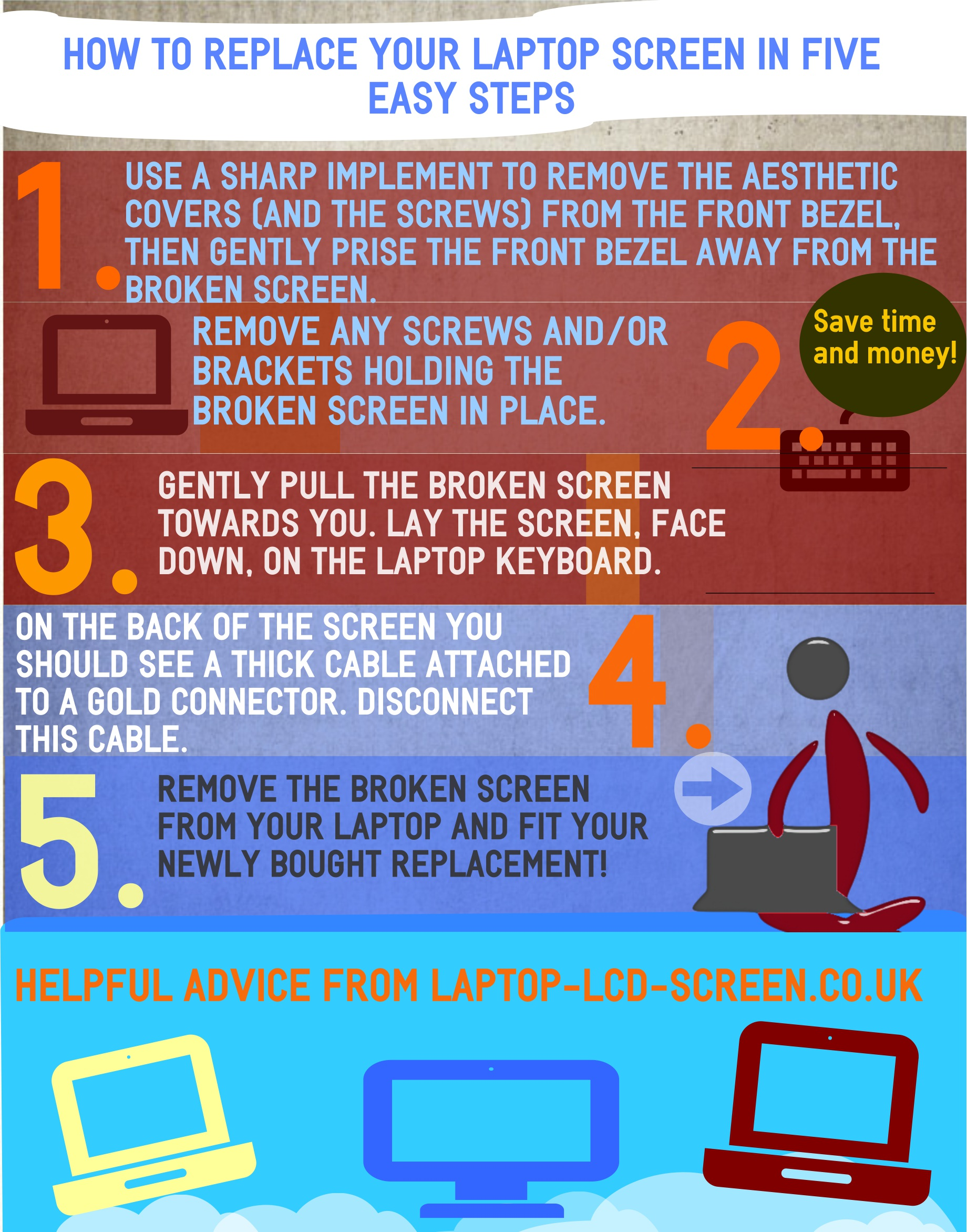 How to replace a laptop screen